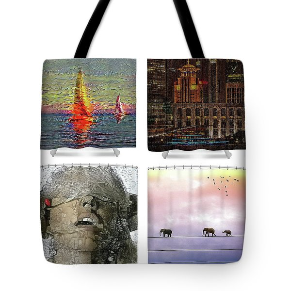 Shower Curtains Samples Tote Bag