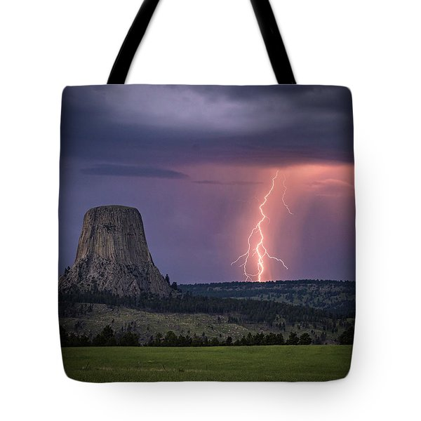 Showers And Lightning Tote Bag