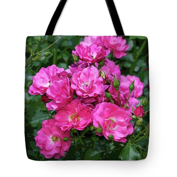 Shrub Rose Stylized Tote Bag
