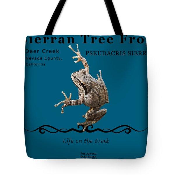 Sierran Tree Frog Pseudacris Sierra Tote Bag