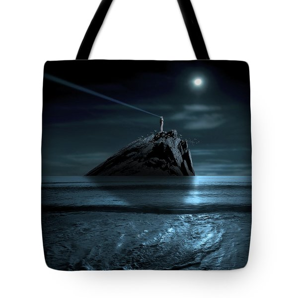 Signal To Heaven Tote Bag