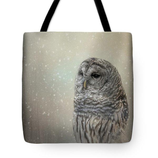 Silent Snow Fall Tote Bag