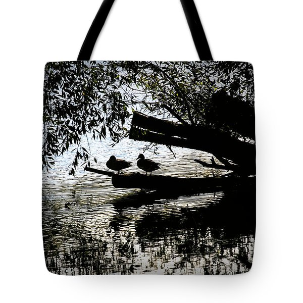 Silhouette Ducks #h9 Tote Bag