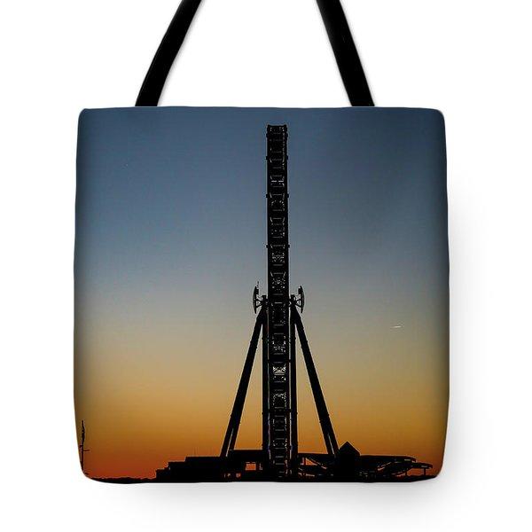Silhouette Of A Ferris Wheel Tote Bag