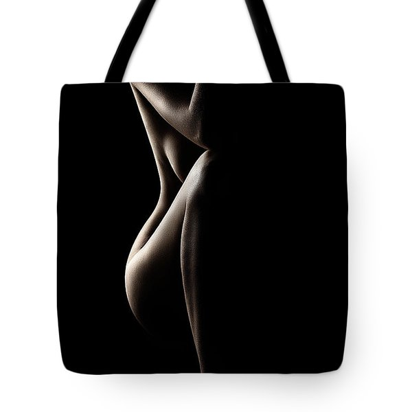 Silhouette Of Nude Woman Tote Bag