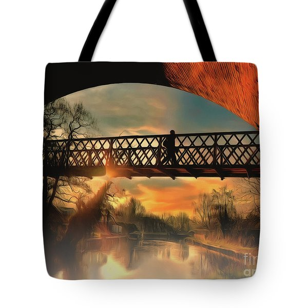 Tote Bag featuring the photograph Silhouettes And Shadows by Leigh Kemp