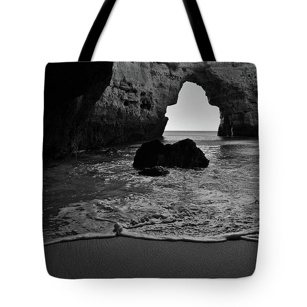 Silky Waves In Monochrome Tote Bag