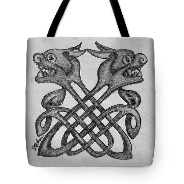 Celtic tote bag Four Wonderfully Wise Celtic Owls......Original Celtic design by Gus.