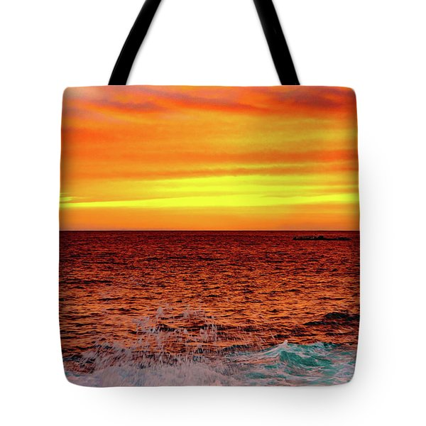 Simple Warm Splash Tote Bag