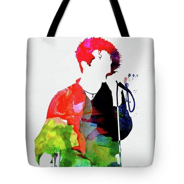 Simply Red Watercolor Tote Bag