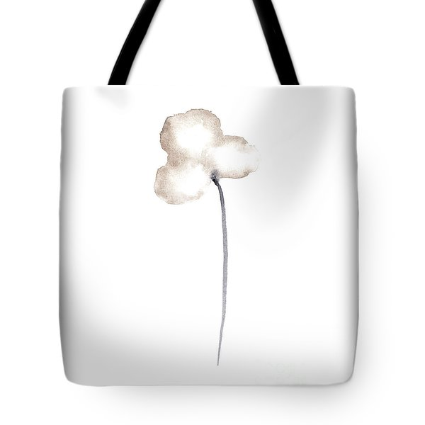 Single Sepia Cloud Poppy Leaning Left  Tote Bag