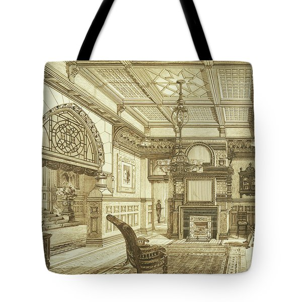 Sitting Room Of Bardwold, Merion Pa Tote Bag