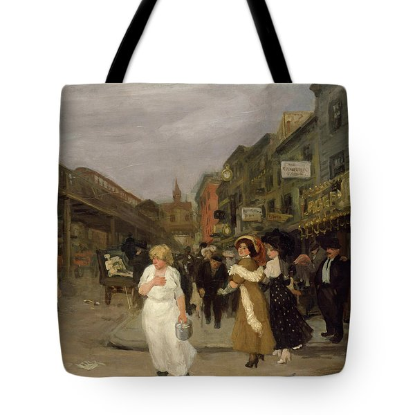 Sixth Avenue And Thirtieth Street, New York City, 1907 Tote Bag