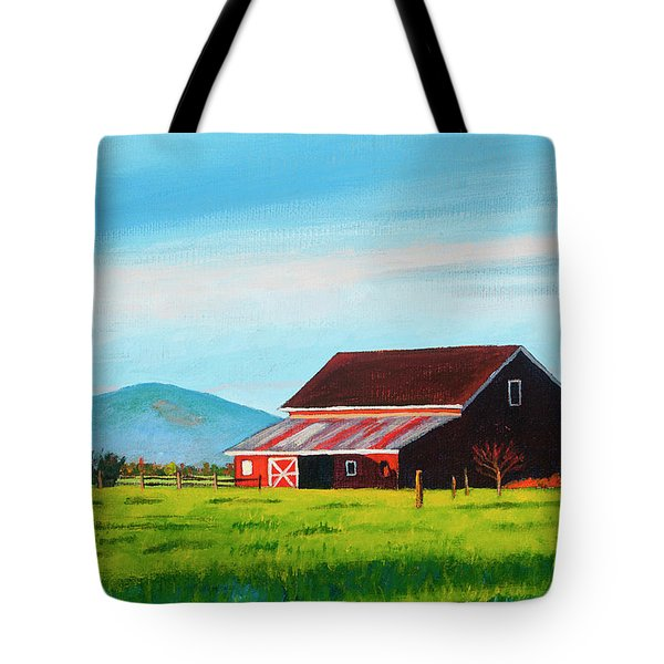 Skagit Valley Barn Tote Bag