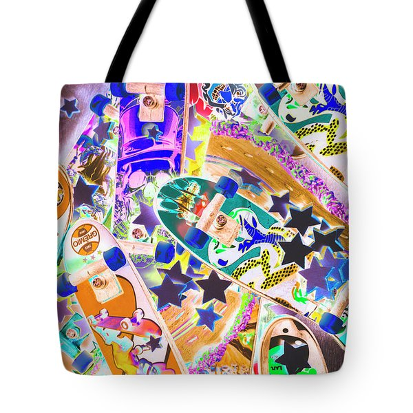 Skating Stars Tote Bag