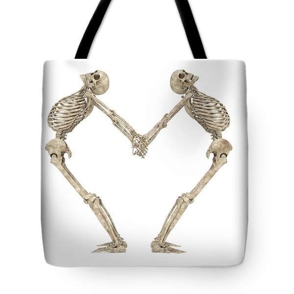 Skeleton Yoga 001 Tote Bag
