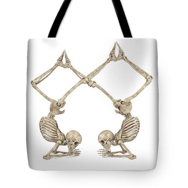Skeleton Yoga 002 Tote Bag