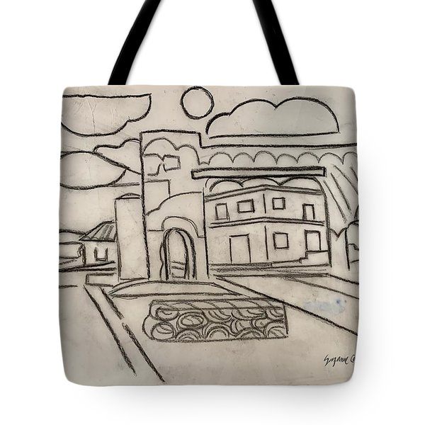 Sketch Of Arch Laguna Del Sol Tote Bag