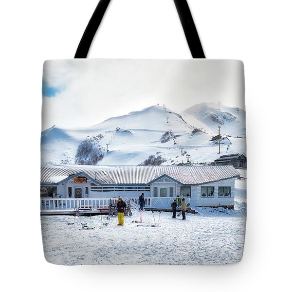 Tote Bag featuring the photograph Ski Center On Top Of The Bayo Hill by Eduardo Jose Accorinti