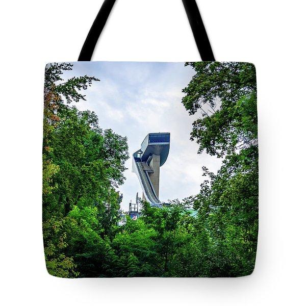 Ski Jump Tower Tote Bag