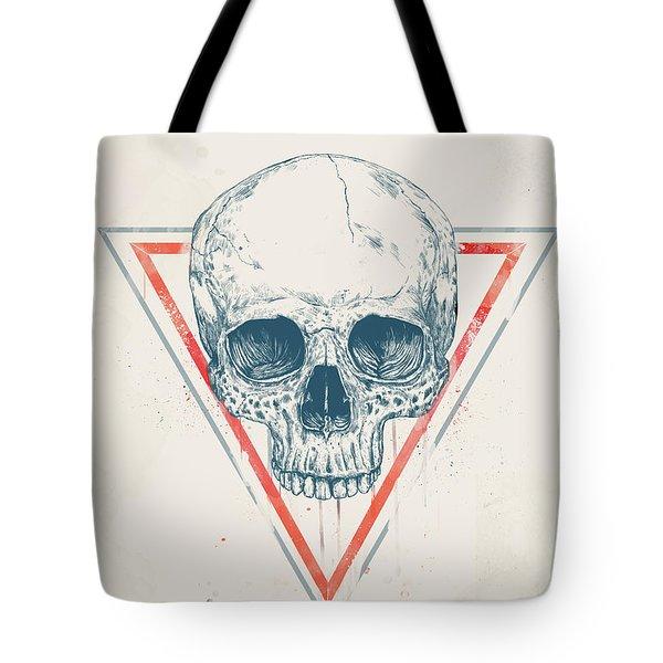 Skull In Triangles Tote Bag