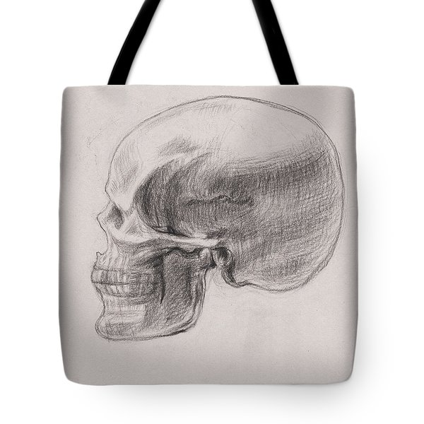 Skull Study Profile Tote Bag