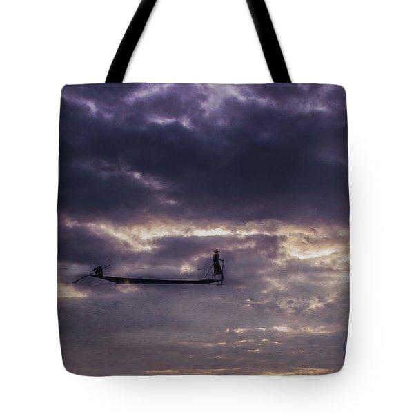 Sky Fisherman Tote Bag