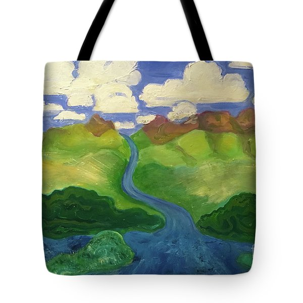 Sky River To Sea Tote Bag