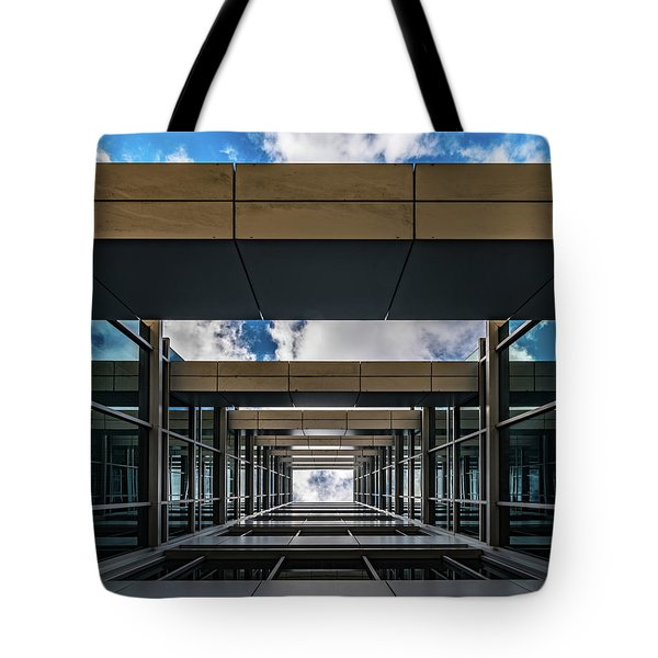Tote Bag featuring the photograph Sky Tunnel by Randy Scherkenbach