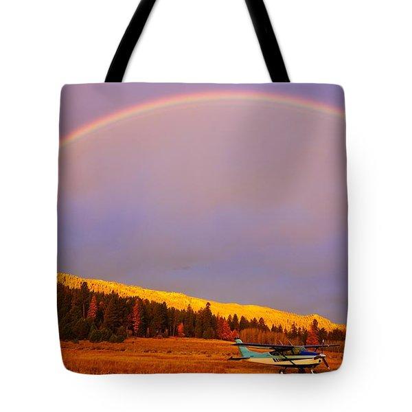 Skylane Rainbow Tote Bag