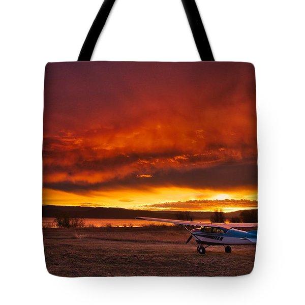 Skylane Sunrise Tote Bag