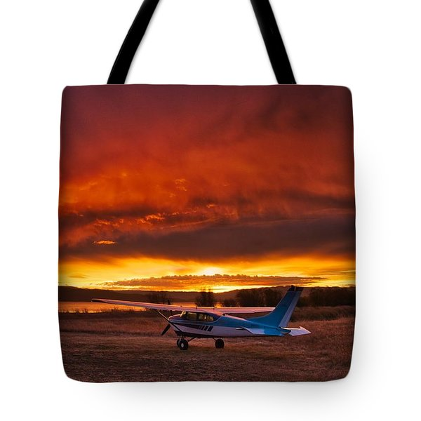 Skylane Sunrise Tote Bag