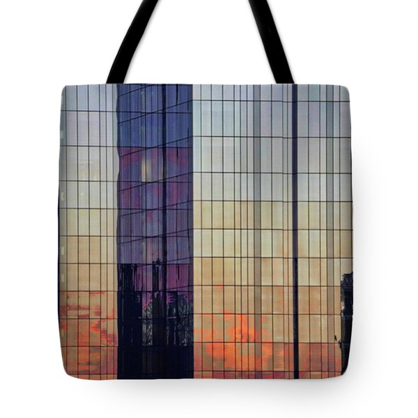 Skyscraper Sunset Tote Bag