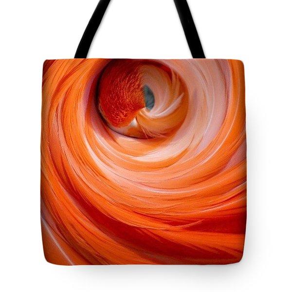 Sleeping Flamingo Tote Bag