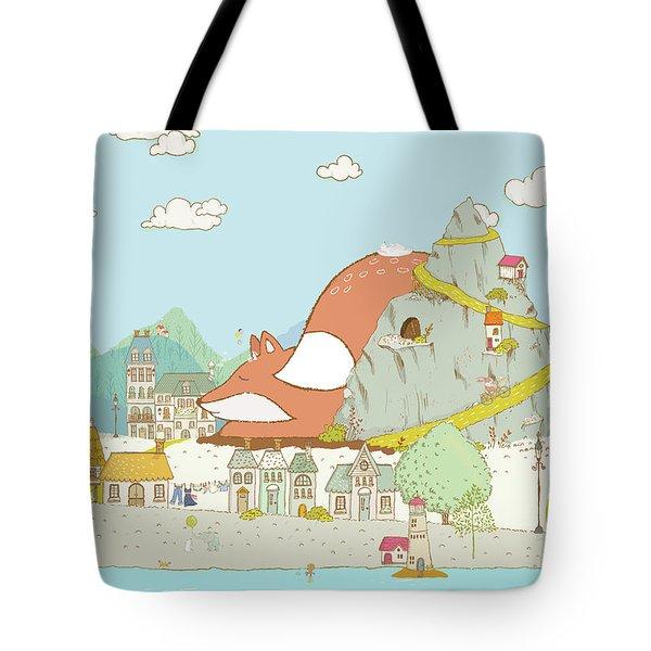 The Sleeping Fox Tote Bag