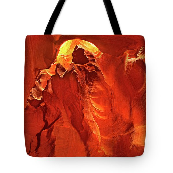 Slot Canyon Formations In Upper Antelope Canyon Arizona Tote Bag