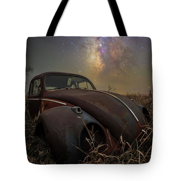 Tote Bag featuring the photograph Slug Bug 'rust' by Aaron J Groen