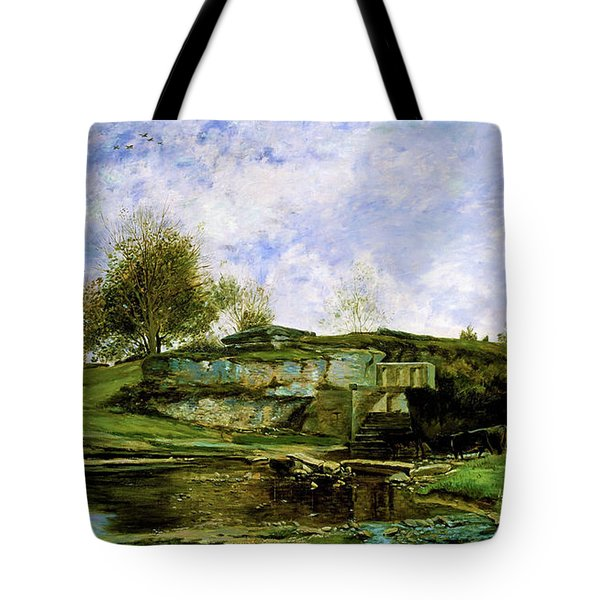 Sluice In The Optevoz Valley - Digital Remastered Edition Tote Bag