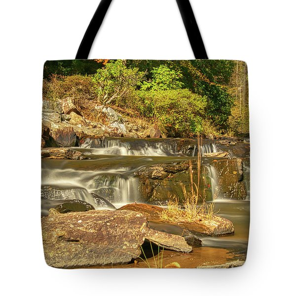 Tote Bag featuring the photograph Small Mountain Stream by Meta Gatschenberger