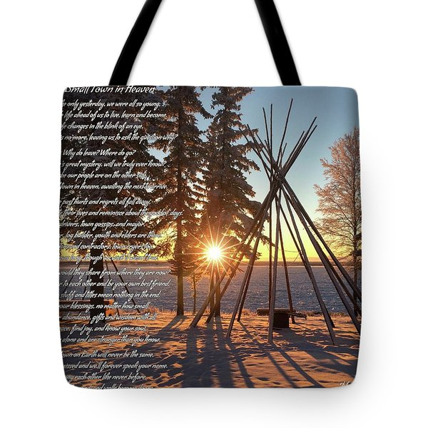 Small Town In Heaven Tote Bag