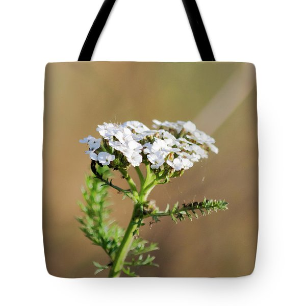 Tote Bag featuring the photograph Small White Flowers by Scott Lyons
