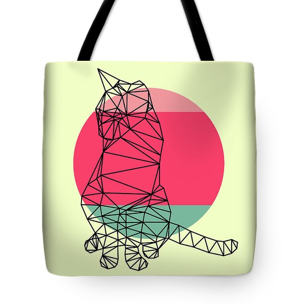 Smart Cat And Sunset Tote Bag