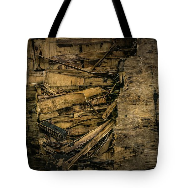 Smashed Wooden Wall Tote Bag