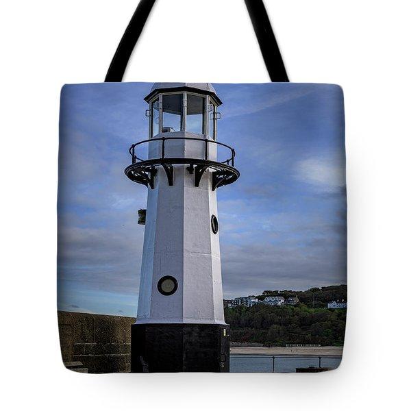 Smeaton's Pier Lighthouse Tote Bag