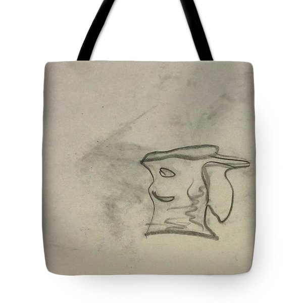 Smiling Bowl Sketch Tote Bag
