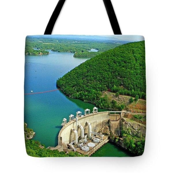 Smith Mountain Lake Dam Tote Bag