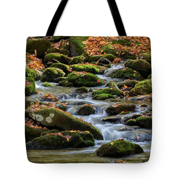 Smokey Mountain Cascades Tote Bag
