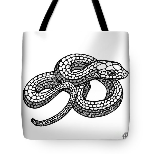 Smooth Green Snake Tote Bag