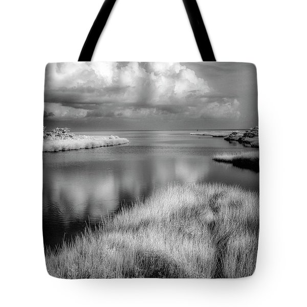 Smooth Waters Bw Tote Bag