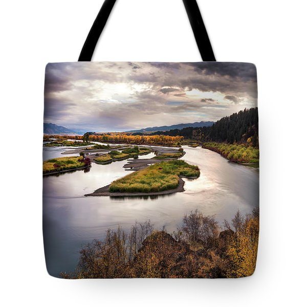 Tote Bag featuring the photograph Snake River Swan Valley by Leland D Howard